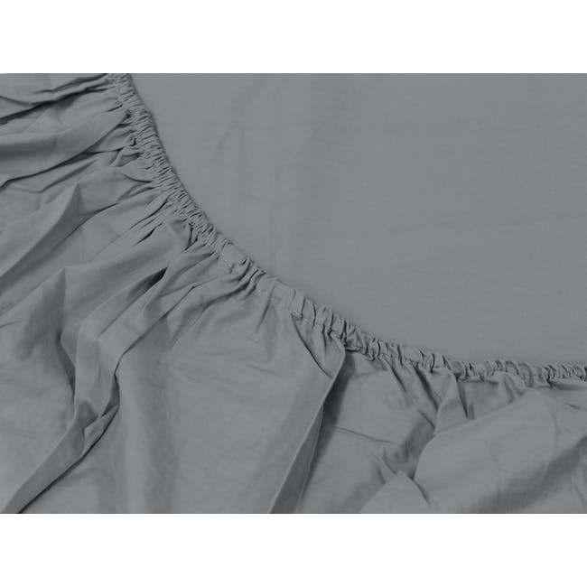 (King) Aurora Fitted Bed Sheet - Stone - 1