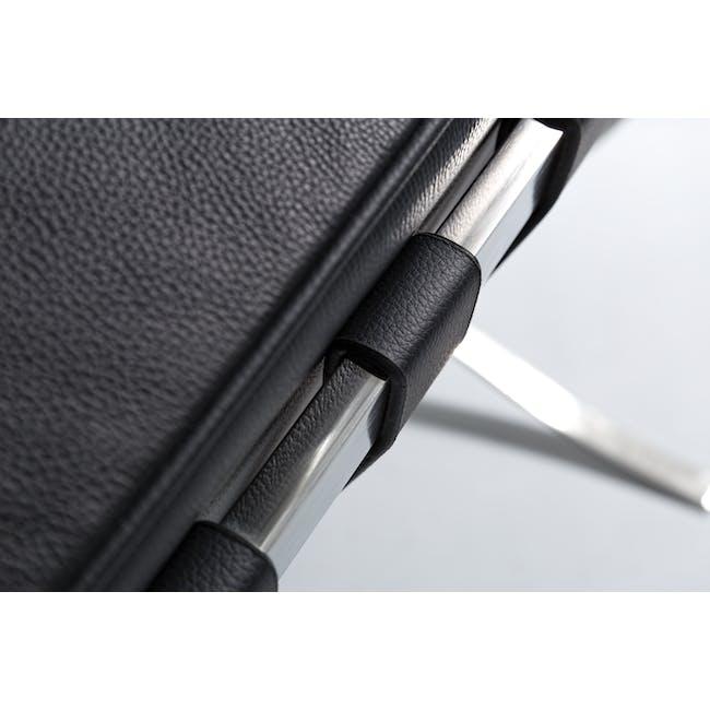 Barcelona 2 Seater Sofa Replica - Black (Genuine Cowhide) - 6