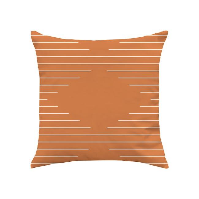 Palette Linen Cushion Cover - Tangerine - 0