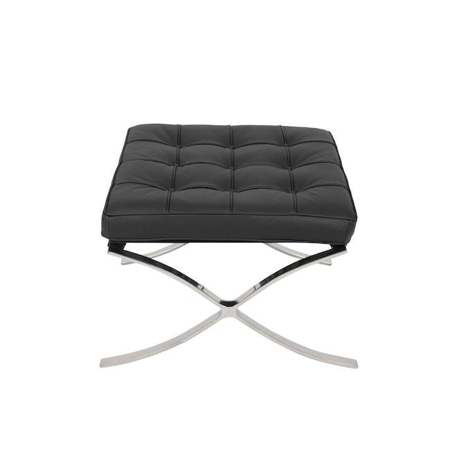 Barcelona Chair with Barcelona Ottoman - Black (Genuine Cowhide) - 19