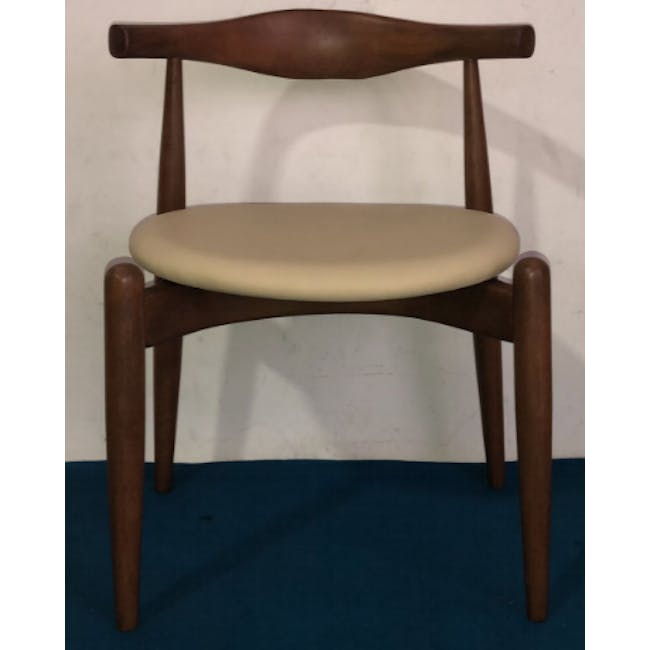 (As-is) Bouvier Dining Chair - Walnut, Cream - 1 - 1