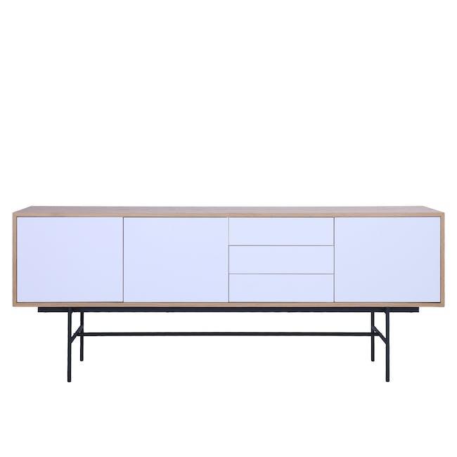 Bacchus Sideboard 2m - Oak, White - 0