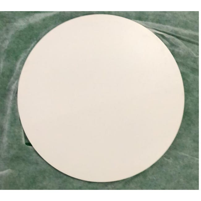 (As-is) Carmen Round Dining Table 0.6m - White - 4 - 7