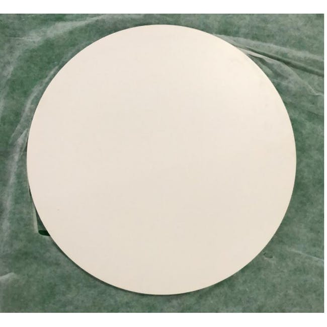 (As-is) Carmen Round Dining Table 0.6m - White - 4 - 5