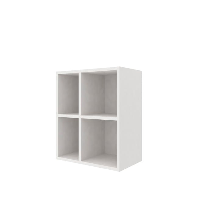 Evie 2x2 Wall Shelf - White - 0