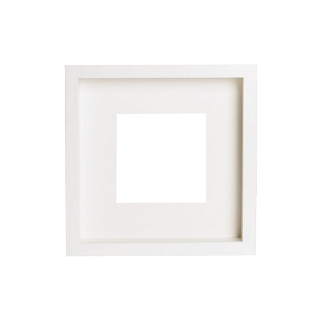 12-Inch Square Wooden Frame - White - 0