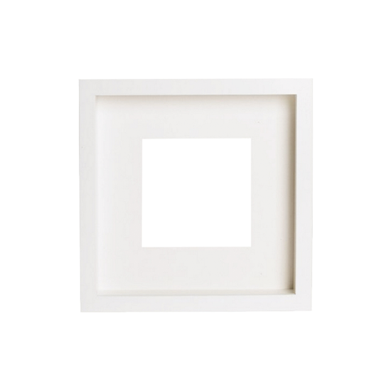12-Inch Square Wooden Frame - White - Image 1