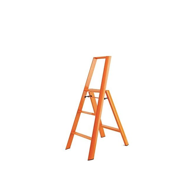 Hasegawa Lucano Aluminium 3 Step Ladder - Orange - 0