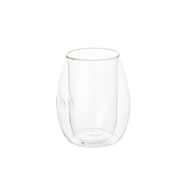 T2 Indented Double Wall Glass - Clear - 0