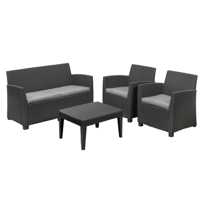 Corona Lounge Set Graphite Allibert Hipvan