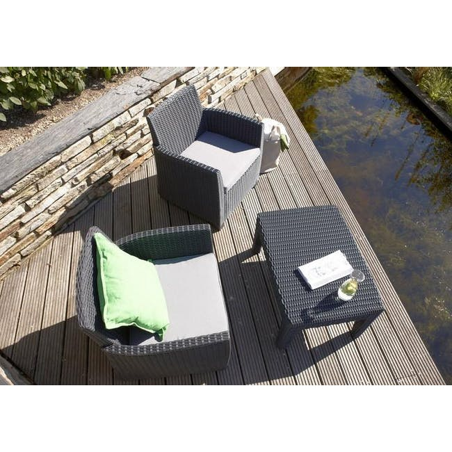 Corona Lounge Set - Graphite - 2
