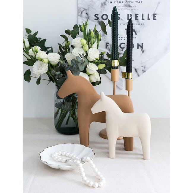 Molly Wooden Pony - Ivory - 1