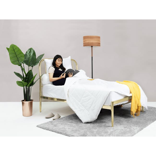 Giselle Single Bed - Brass - 1