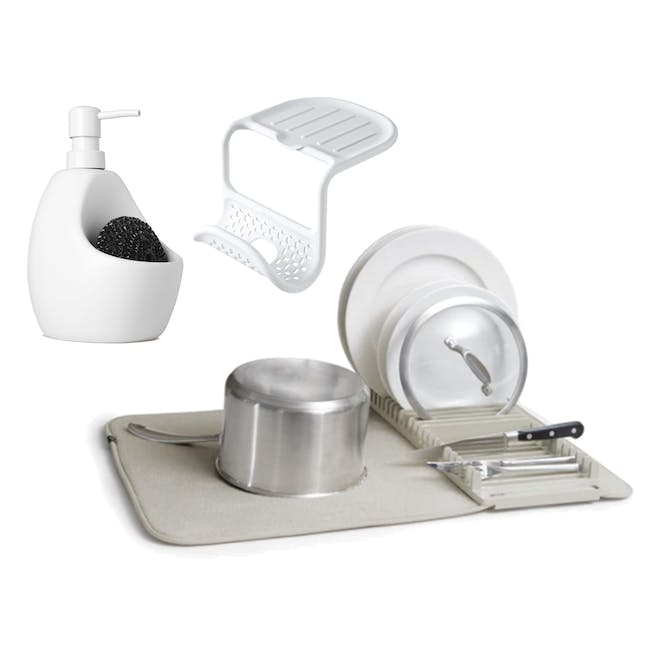 Joey Pump/Scrubby Combo, Sling Two-way Sink Caddy with Udry Drying Mat - 0