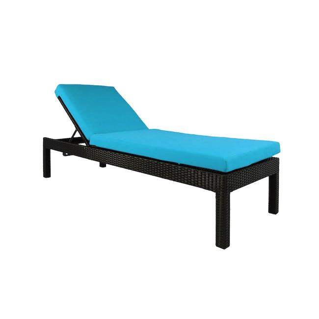 Wikiki Sunbed - Blue Cushion - 0
