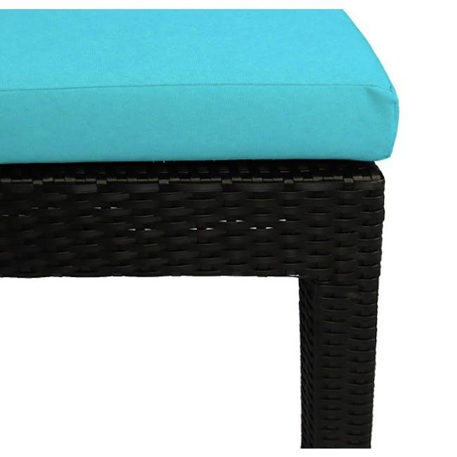 Wikiki Sunbed - Blue Cushion - 4
