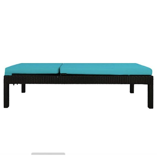 Wikiki Sunbed - Blue Cushion - 1