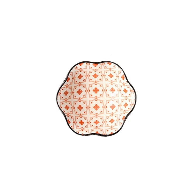 Table Matters Crisscross Red Saucer (2 Sizes) - 2