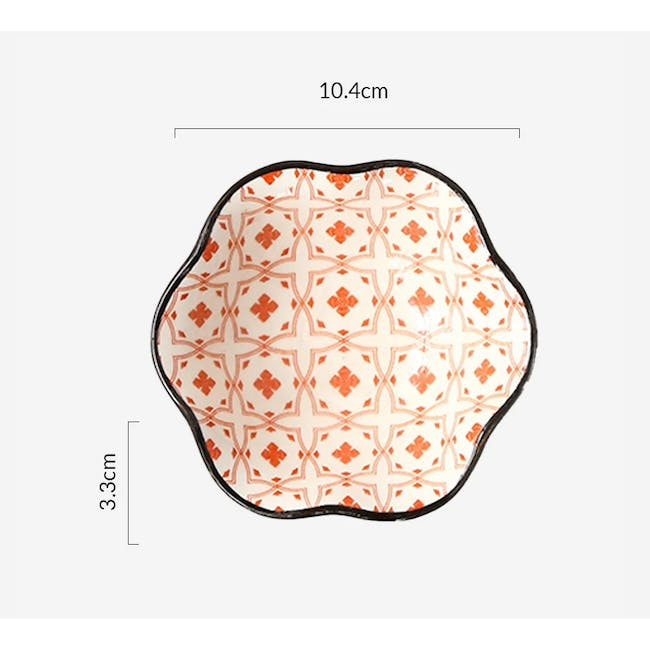 Table Matters Crisscross Red Saucer (2 Sizes) - 5