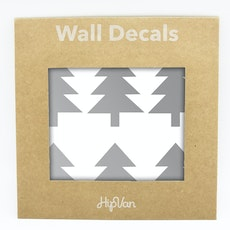 Nordic Trees Wall Decal (Pack of 30) - Silver