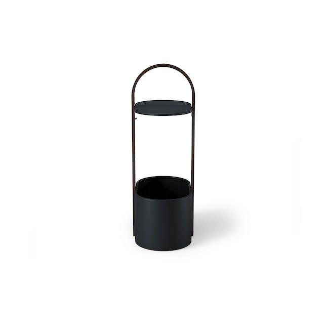 Hub Side Table with Storage - Black, Walnut - 4