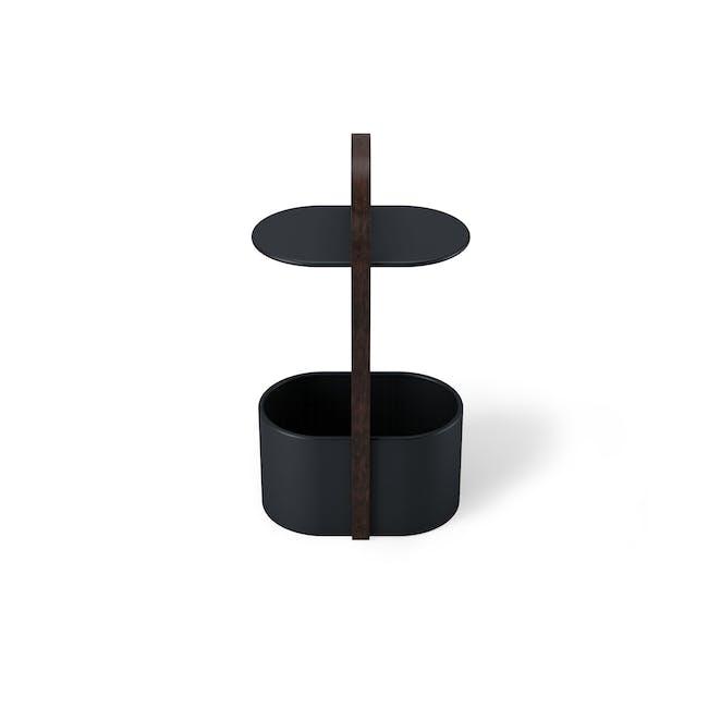 Hub Side Table with Storage - Black, Walnut - 3