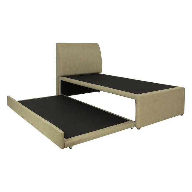 ESSENTIALS Super Single Trundle Bed - Khaki (Fabric) - 5