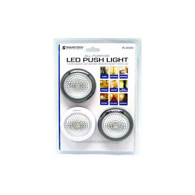 SOUNDTEOH LED Push Light Set of 3 (Battery Operated) - 0