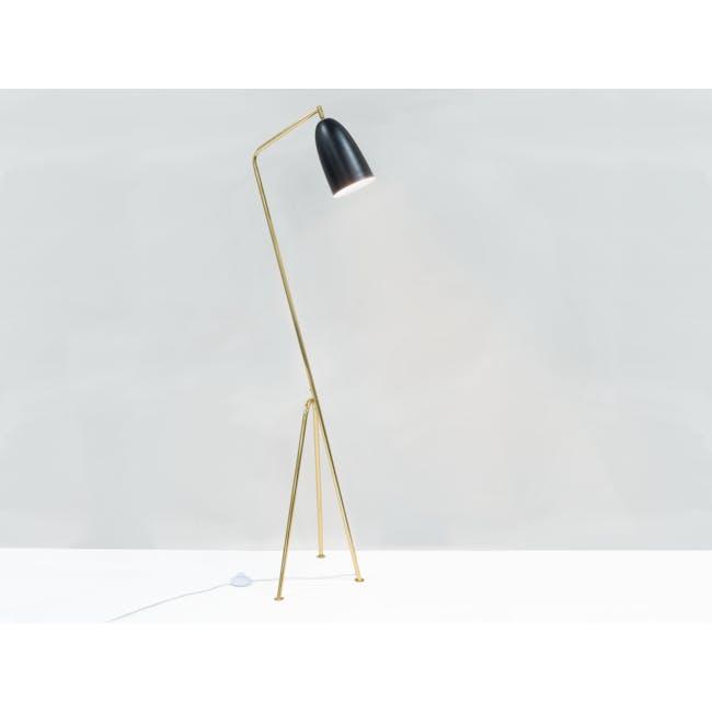 Grasshoppa Floor Lamp - Black, Brass - 1