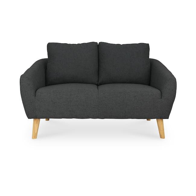 Hana2 Seater Sofa - Charcoal - 0