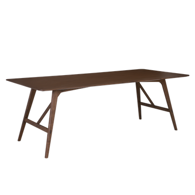 Fidel Dining Table 2.2m with Fidel Dining Bench 1.5m and 3 Fabiola Dining Chairs - Walnut - Image 2