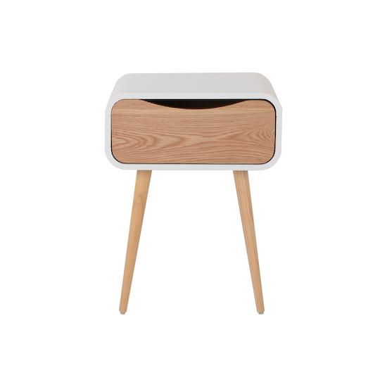 Vietnam Housewares - Albie Bedside Table - Oak, White