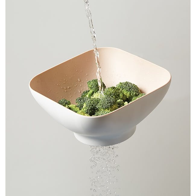 OMMO Diga Salad Bowl with Strainer- Suede - 1
