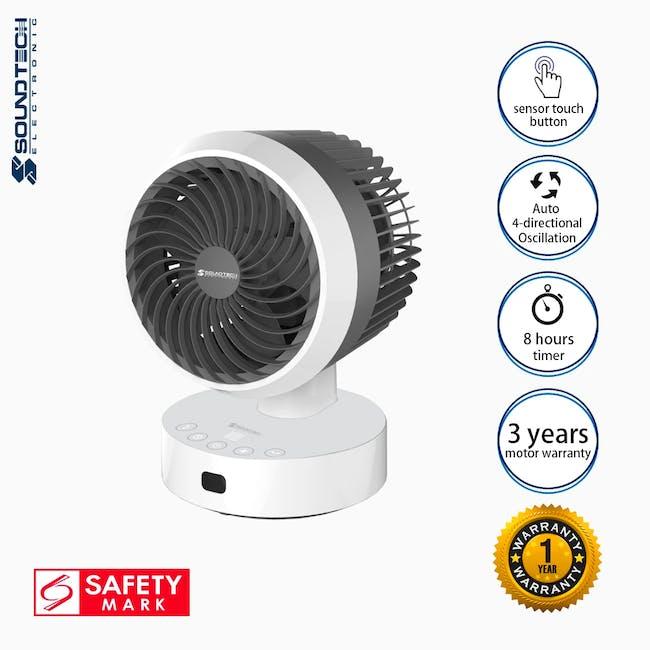 SOUNDTEOH 6 Inch Air Circulator Fan with Remote Control - 6