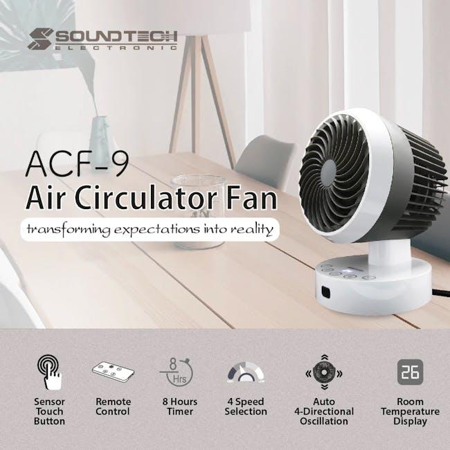 SOUNDTEOH 6 Inch Air Circulator Fan with Remote Control - 5