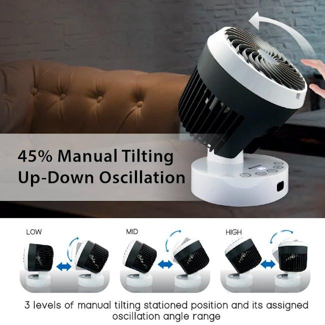 SOUNDTEOH 6 Inch Air Circulator Fan with Remote Control - 3