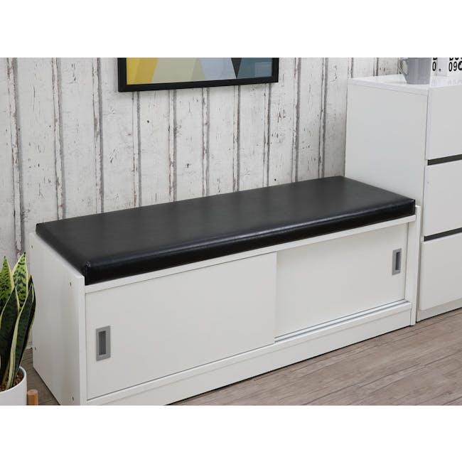 Echo Shoe Cabinet - White - 5