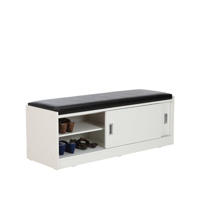 Echo Shoe Cabinet - White - 0