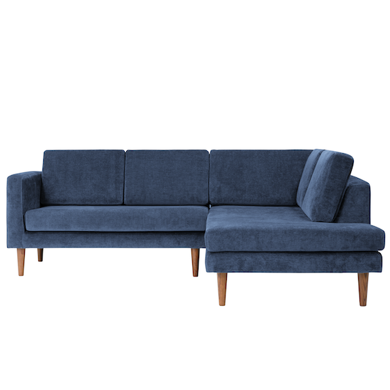 Danyl L-Shaped Corner Sofa - Shadow Blue