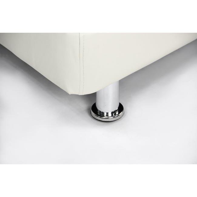 ESSENTIALS Single Divan Bed - White (Faux Leather) - 6