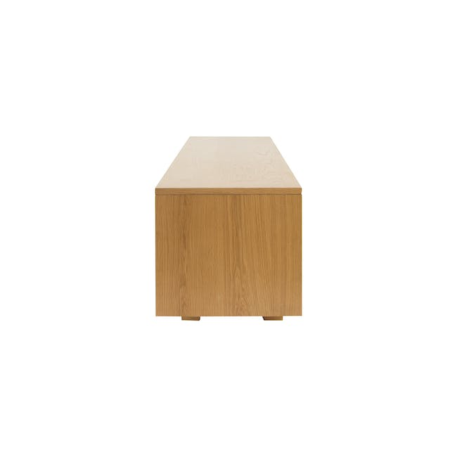Keita TV Console 1.8m in Oak with Carsyn Oval Coffee Table in Taupe Grey - 6