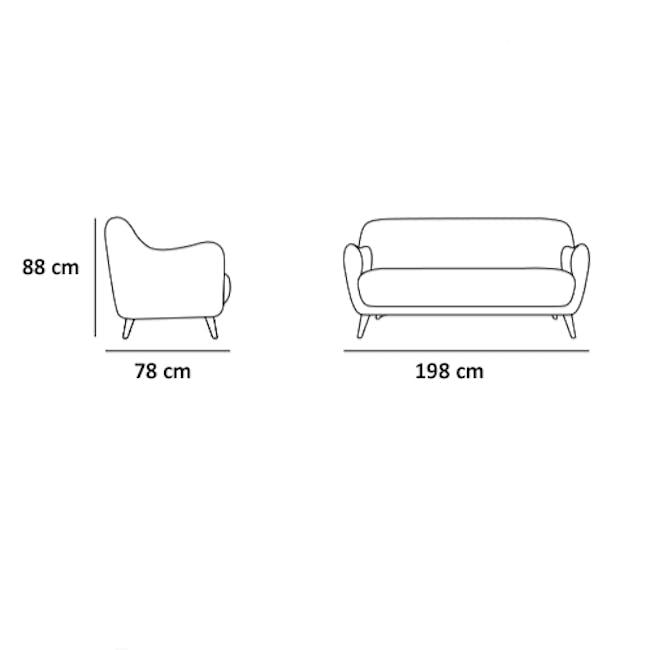 Emma 3 Seater Sofa with Emma Armchair - Dusk Blue - 10