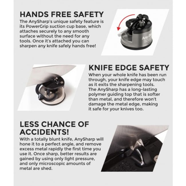 AnySharp Knife Sharpener - Silver - 4