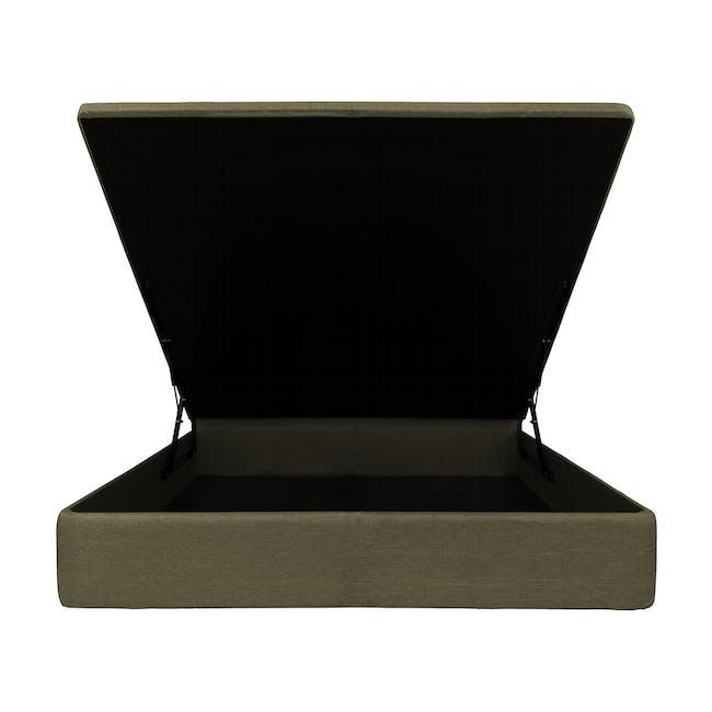 ESSENTIALS Queen Headboard Storage Bed - Khaki (Fabric) - 1