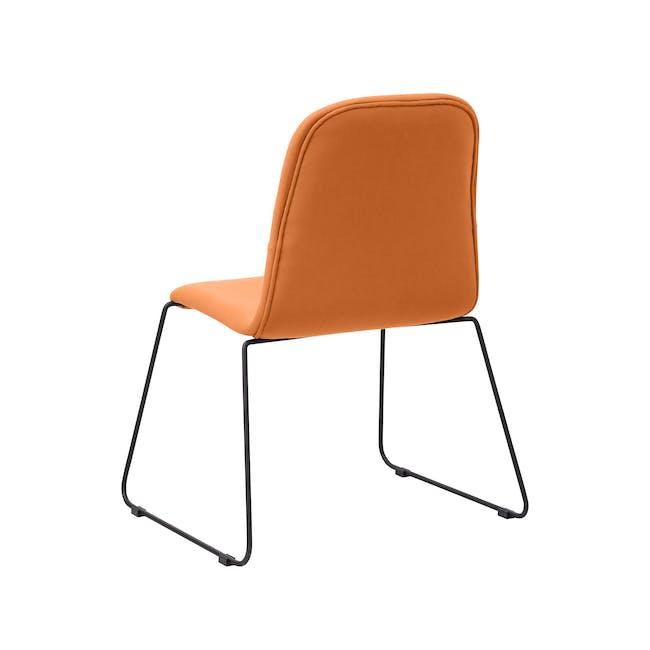 Ava Dining Chair - Matt Black, Tangerine - 6