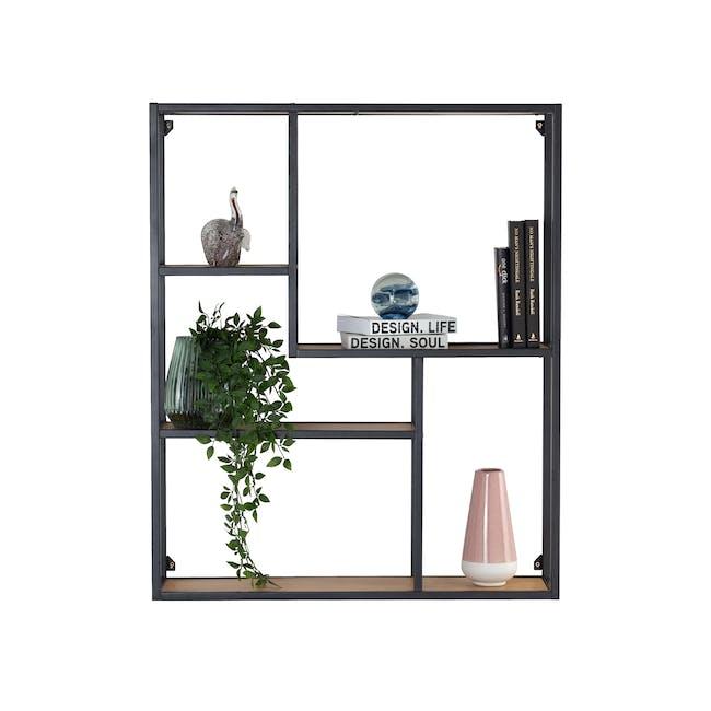 Ruthin Wall Shelf - Black, Oak - 1