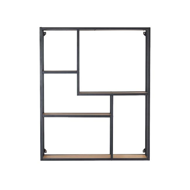 Ruthin Wall Shelf - Black, Oak - 0