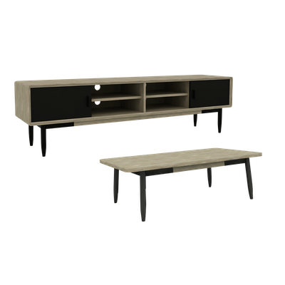 Starck TV Console 2m with Starck Coffee Table - Image 1