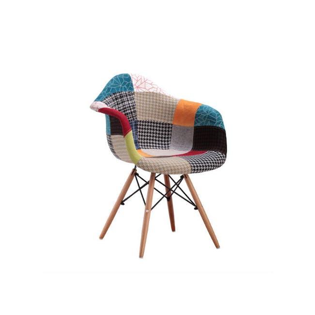 DAW Chair Replica - Natural, Patchwork - 1