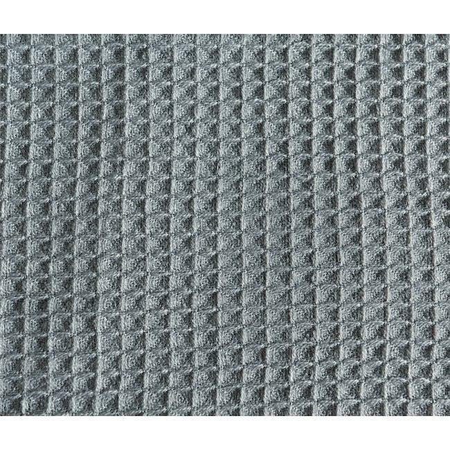 Aubrey Waffle Throw - Dark Grey - 2